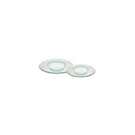 Assiette ronde petit bassin en verre (x6)