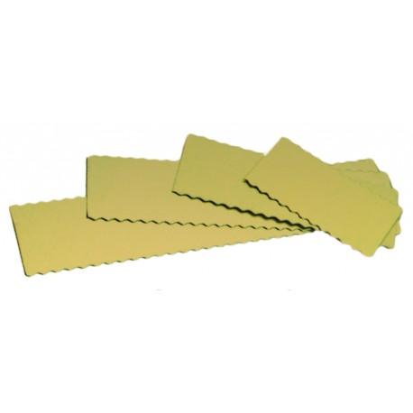 Semelle à bûches, gâteaux longs, cakes en carton or festonné x50