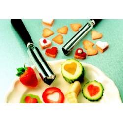 Emporte coeur pour sculpter, décorer fruits et légumes