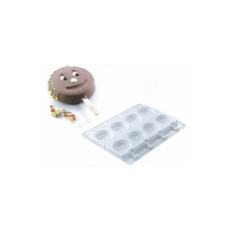 Moule stecco flex pour 8 glaces ou gâteaux forme smile, coeur ou patte