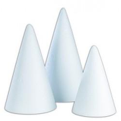 Présentoir polystyrène pyramide ronde