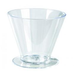 """Verrine """"cône avec pied"""" 7 cl plastique (x100)"""