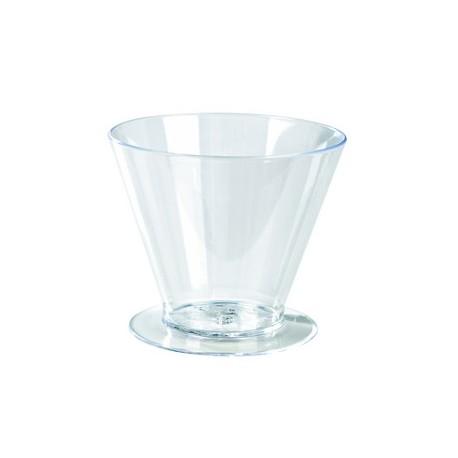 """Verrine """"cone avec pied"""" plastique (x100)"""