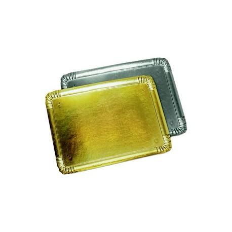 Plateau traiteur carton 1 face or ou argent (x25)