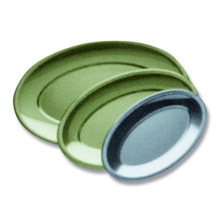 Plat jetable ovale coloris or ou argent