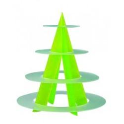 Présentoir plastique acrylique plateaux anneaux