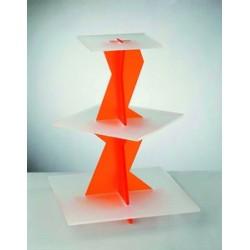 Presentoir plastique acrylique plateaux carres