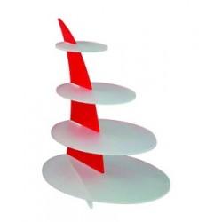 Présentoir plastique acrylique plateaux ovales